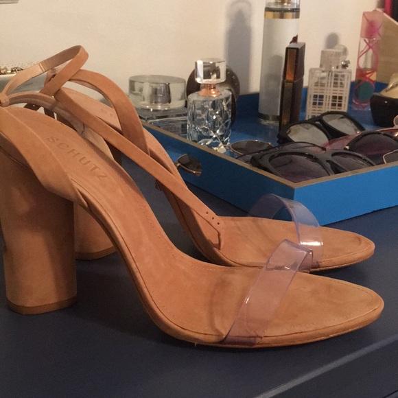 bb1a273c92b1 Schutz geisy clear strap shoes. M 5b5b96bcd6716a3fd8fdc654
